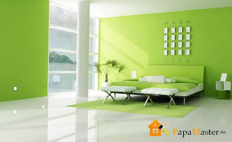 Покраска стен водоэмульсионной краской: выбор материала, технологии с рисунком, фактурная