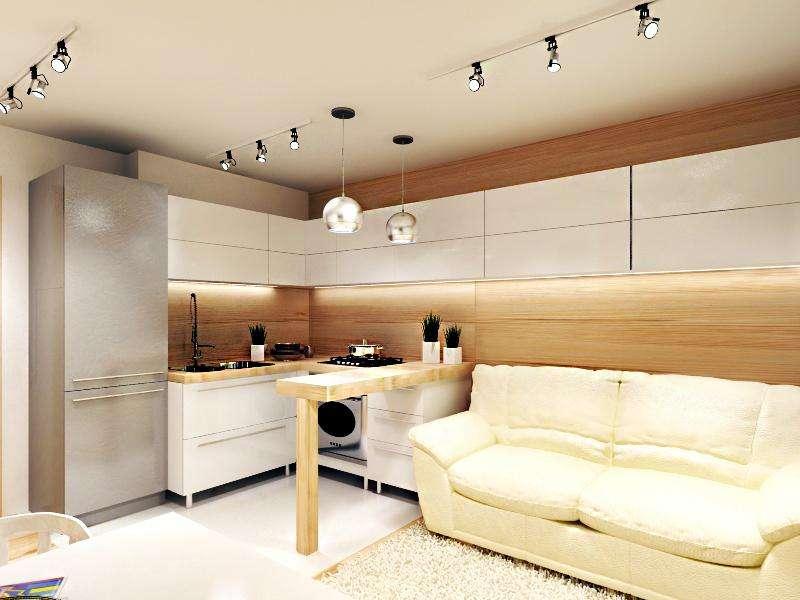 Дизайн кухни с выходом на балкон (52 фото интерьеров)