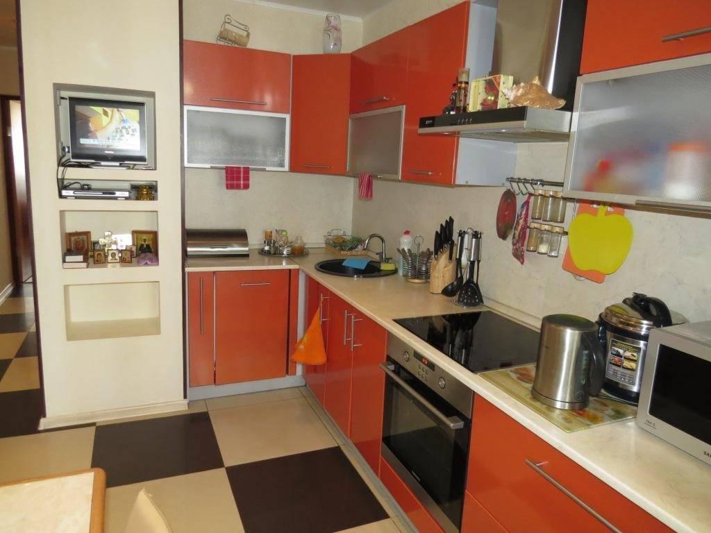 Дизайн кухни с эркером в домах серии п44т — фото интерьеров